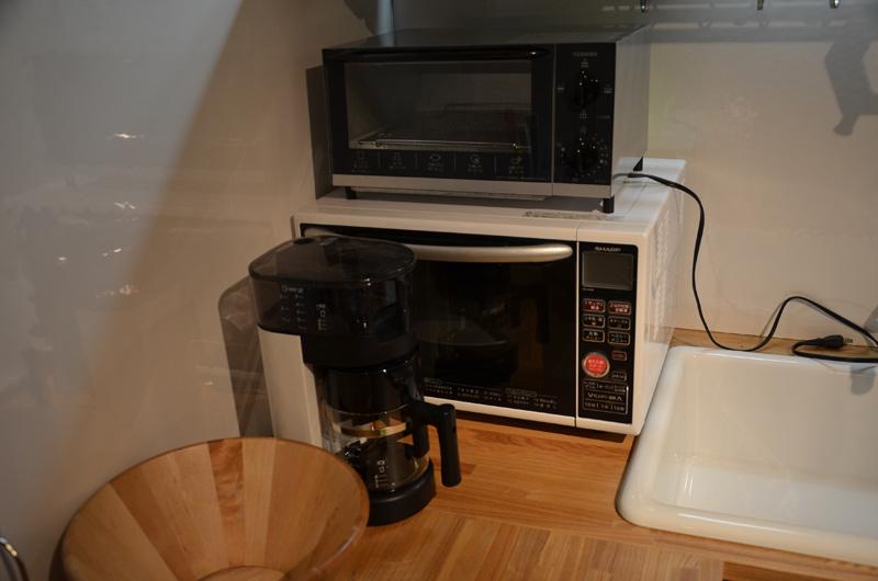 レンジとトースターとコーヒーメーカー