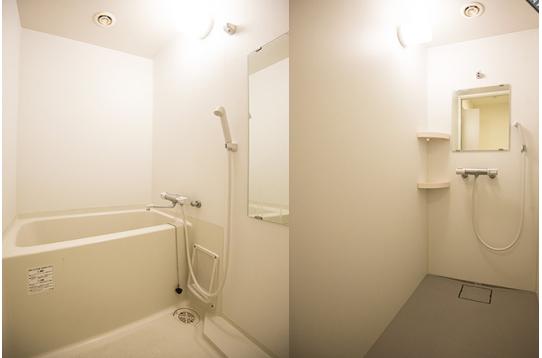 バスルーム、シャワーを完備。
