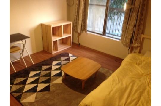 6畳バルコニーアクセス付き 、家具付き部屋