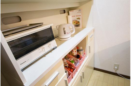 食器棚の様子。