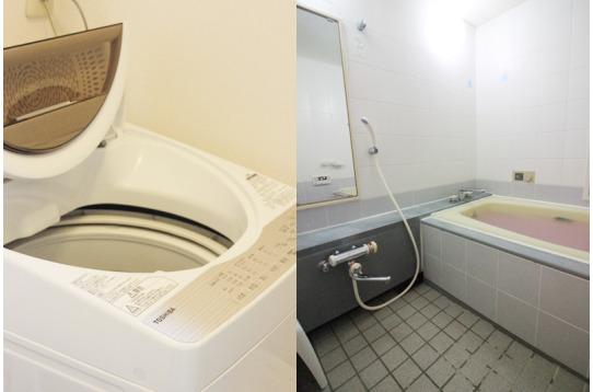 洗濯機、お風呂も無料でご利用頂けます
