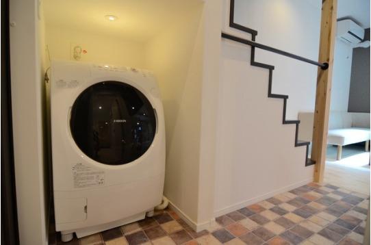 乾燥もできる洗濯機で雨の日も安心