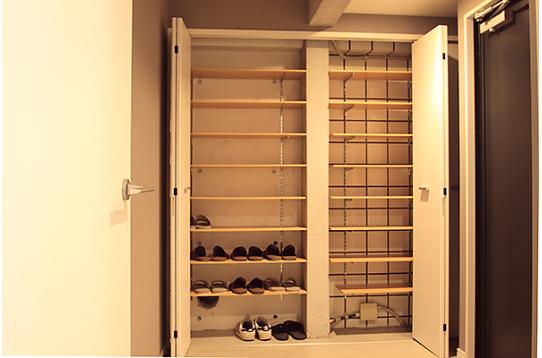 靴箱は大容量