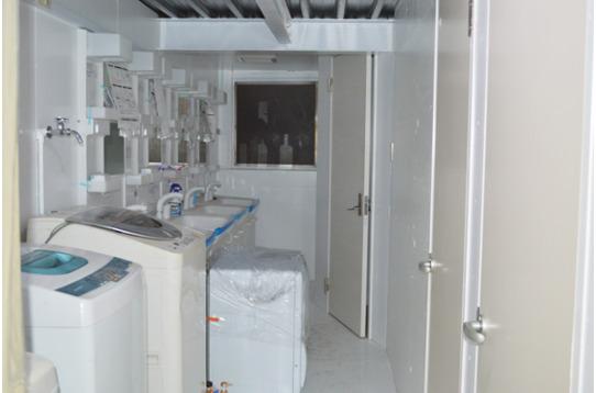 洗濯機、乾燥機完備。ご使用は無料です。