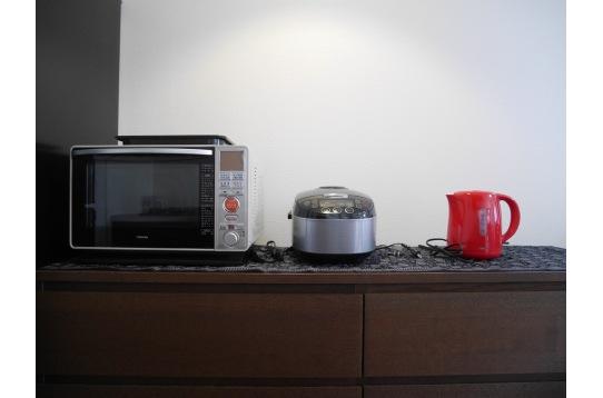 調理機材も充実。