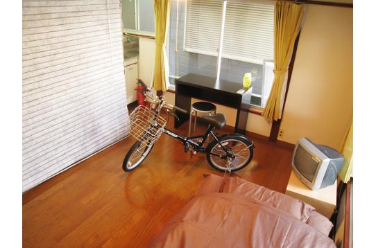 各部屋1台自転車無料貸し出し!