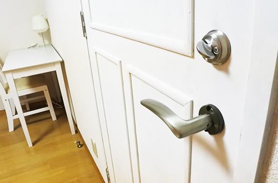 各お部屋鍵付きで安心