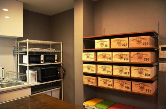 特注したwine箱の個別 収納棚