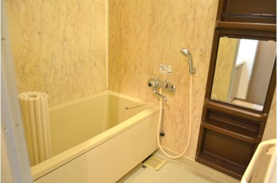 浴室は嬉しいバスタブつき