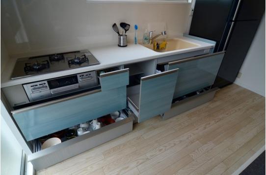 収納力抜群のキッチン