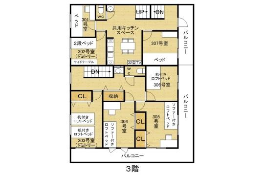 3階平面図