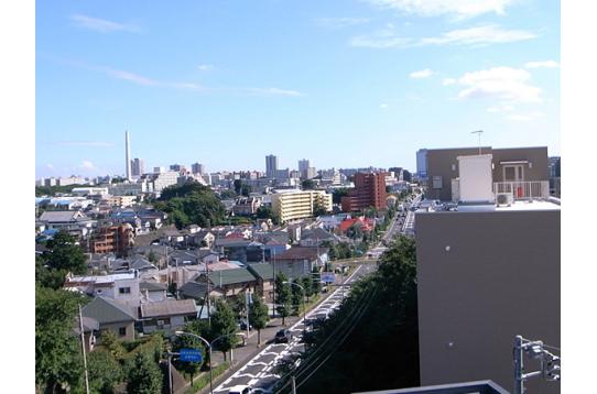 ●晴れた日の階上階から望む景色