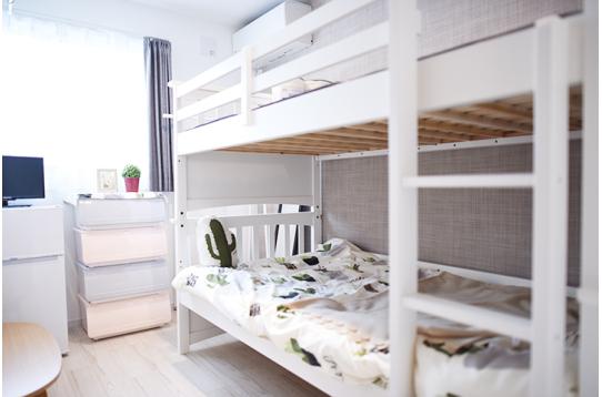 2段ベッドがあれば小学生のお子様がいても大丈夫!