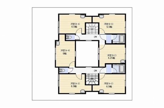 2階間取り図。