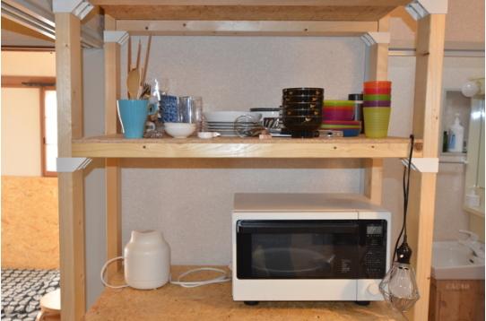 食器と家電も揃っています