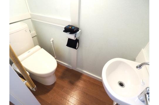 手洗い付きのトイレです。