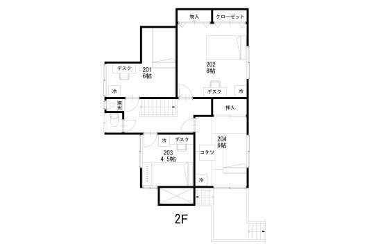 二階レイアウト図面