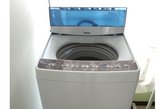 無料の洗濯機あり