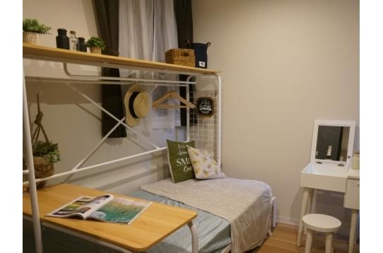 収納とベッドを一体化してコンパクト