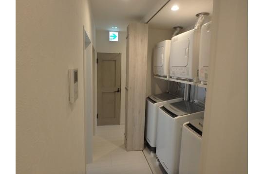 洗濯機は3台完備。