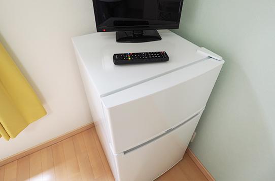 各お部屋に冷蔵庫付きなのも嬉しいポイント