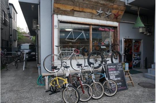 ♥ ハウス近くのお洒落な自転車屋さん