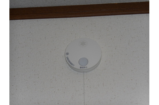 各部屋ごとに火災報知器設置済