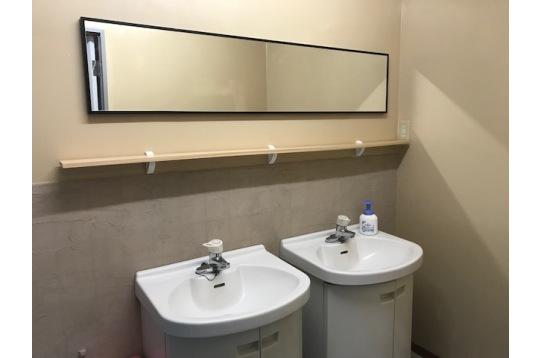 先月、自らリフォームした2Fの洗面所です。