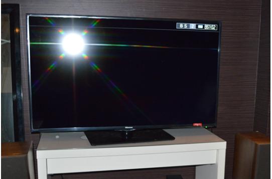 大型テレビ設置 皆様で楽しんでください。