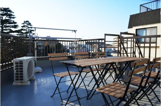 屋上ではホームパーティーも楽しめます!