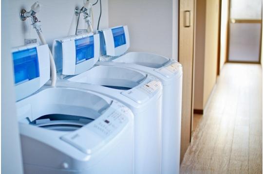 洗濯機は3台あります。