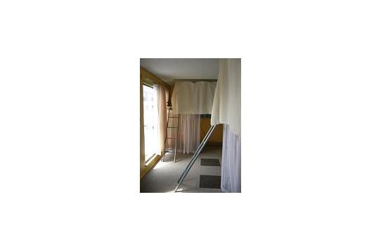 ロフトベッドのドミトリー部屋です