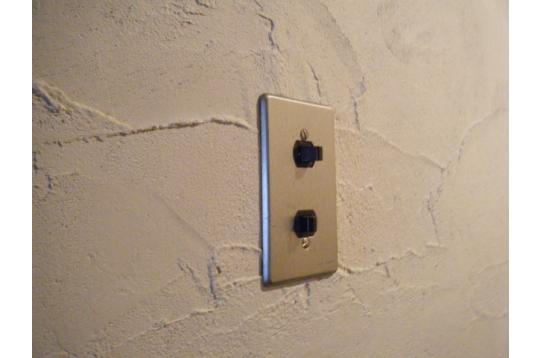 玄関の壁は珪藻土塗