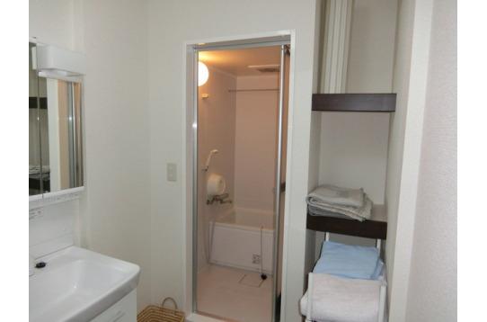 改装直後の洗面所は使い易くて、清潔で、コンパクト。