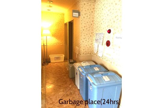 24時間利用可能なゴミ捨て場です。