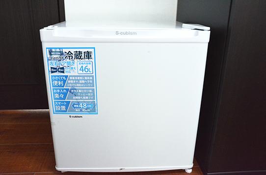 お部屋には小型冷蔵庫付き
