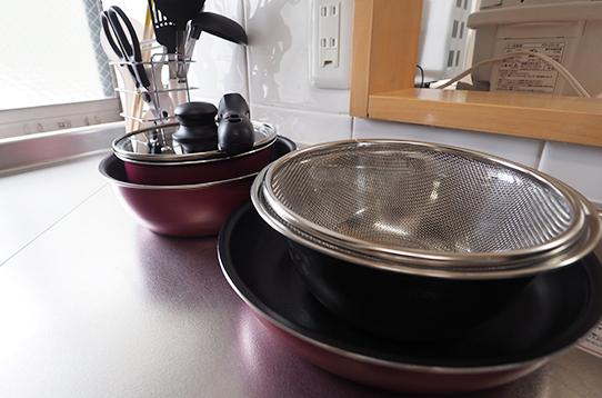 各種調理器具も完備