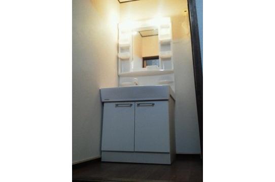 洗面台は新品です♪