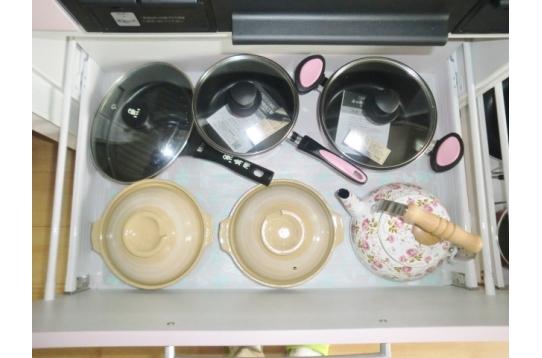 調理器具も一式揃っています