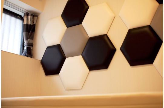 個室ごとに異なるデザインです