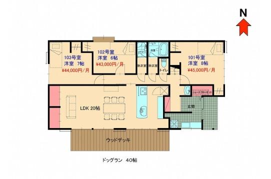 四番館1階の平面図