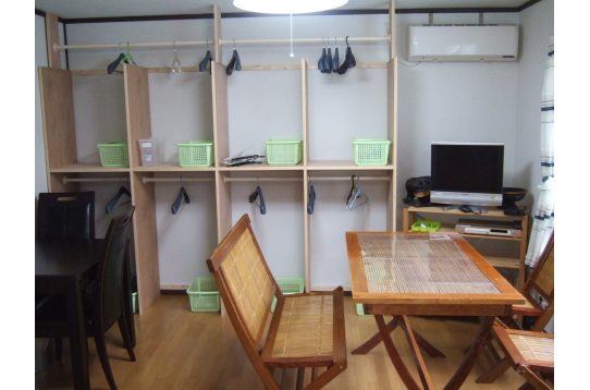 リビングと収納スペース