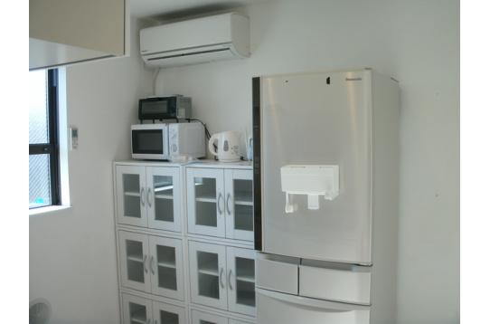 大型の冷蔵庫も完備!