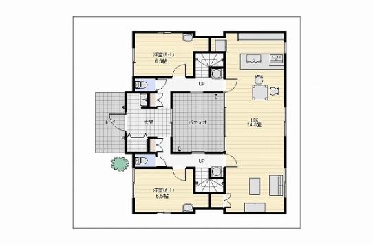 1階間取り図。