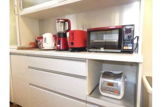 キッチン用品も充実。住人交流にフル活用。