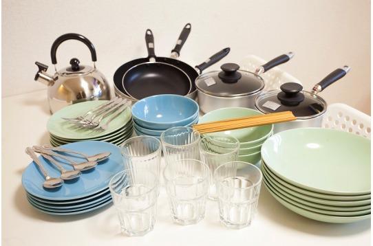 調理道具・食器も完備