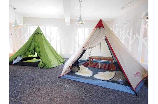 とってもユニークなテントスペース!
