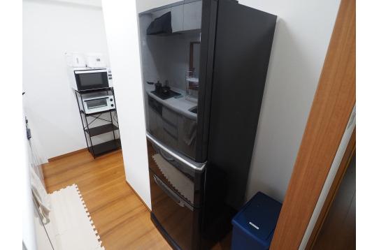大きな冷蔵庫完備
