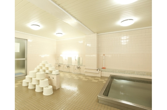 大浴場。ゆったりバスタイムを楽しめます。