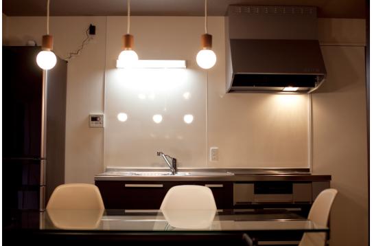 すっきりとシンプルなキッチン